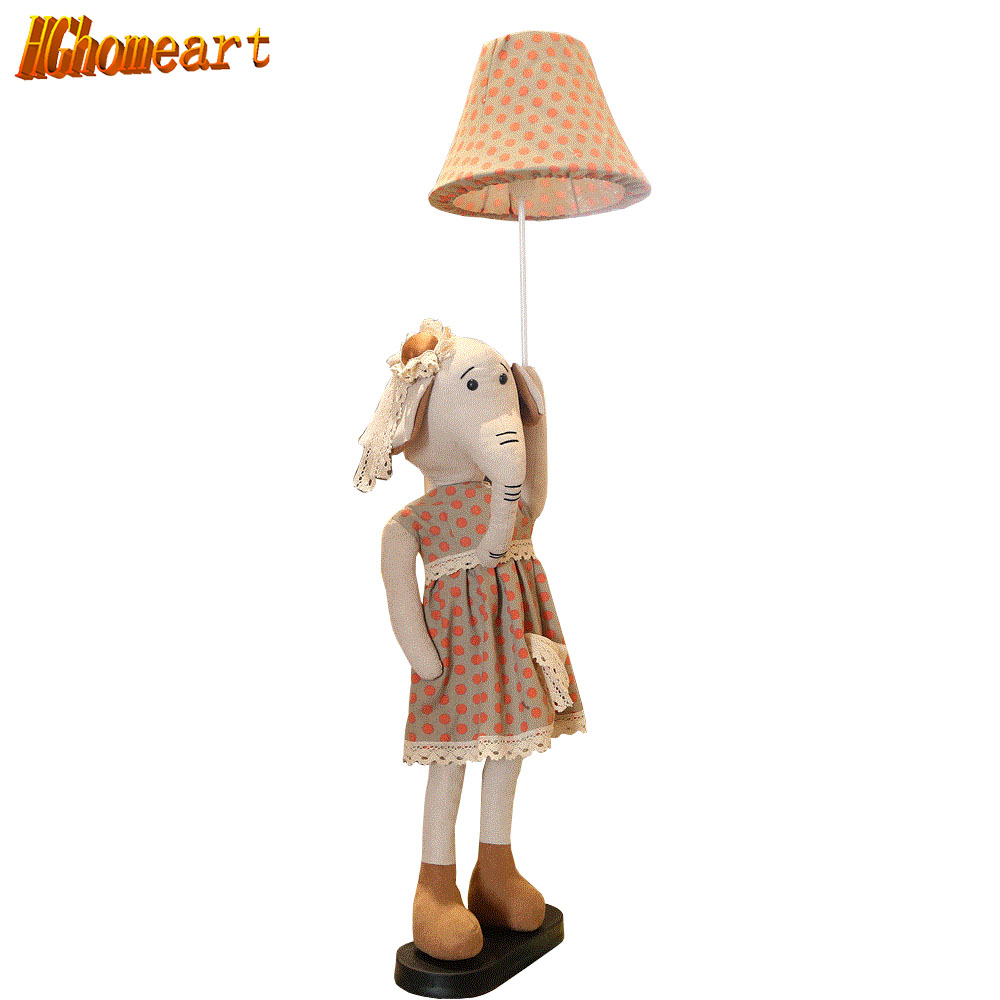 HGHomeart Nordic  Exotic Lights Floor Lamp for Living Room Children Room Reading Cartoon Cute Animal Eye Protection Floor Lamp цена 2017