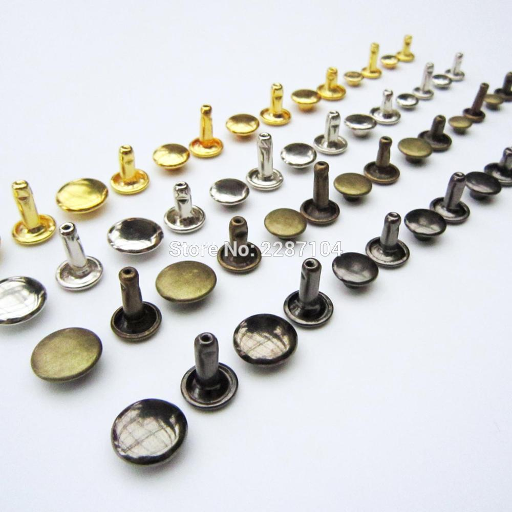 HZYUEGOU 50set Metal Double Cap Round Rapid Rivet Spike