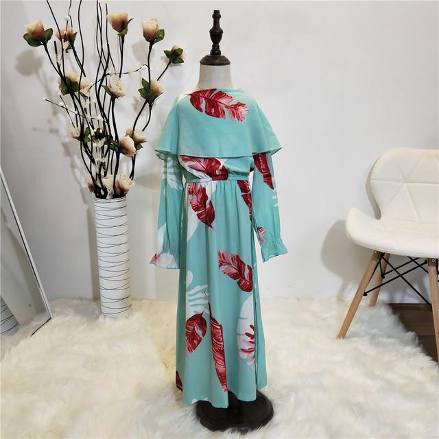 Arab Vestido 2019 Arabic Girl Abaya Dubai Kaftan Turkey Long Bodycon Muslim Hijab Dress Children Elbise Turkish Islamic Clothing
