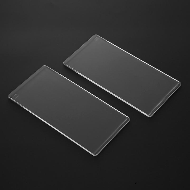 Neue 2 Stücke Klaren Acryl Schneidematte Platte Für DIY Stanzformen Plattform Adapter Transparent Stanze Spacer 3mm