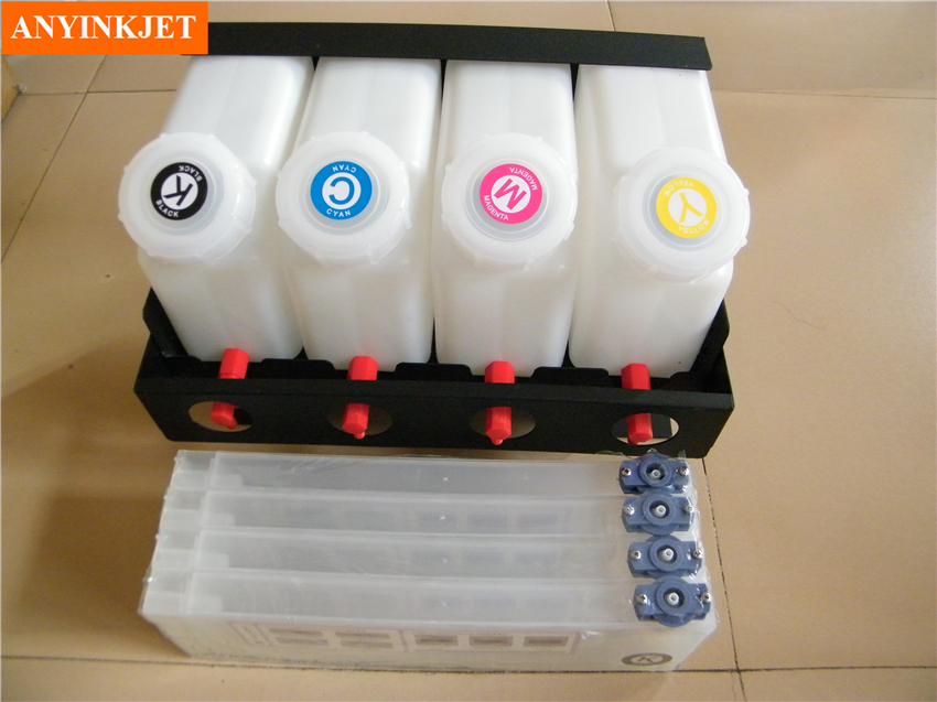 bulk system for Roland FJ-540/740,SJ540/640/740,1000/1045,SP300/540,SC540,XC540,XJ640 (4 ink bottle with 4 ink cartridge) 4 bottles 4 cartridges roland bulk ink system