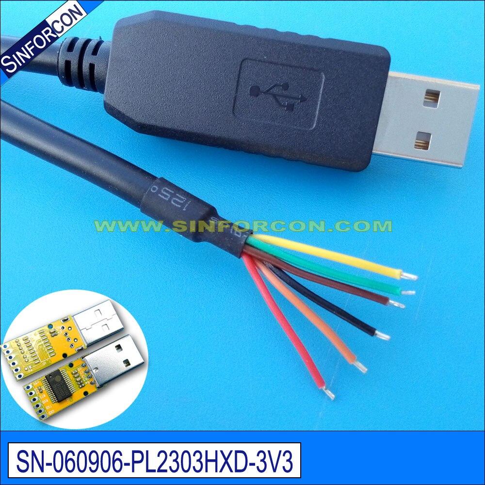 pl2303hxd usb seriële uart ttl-kabel met 0.1 du pont female socket - Computer kabels en connectoren - Foto 3