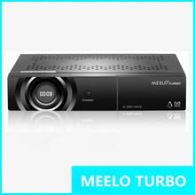 De alto grado MEELO TURBO DVB-S2/C/T2 linux IPTV Receptor de Satélite de 7 Segmentos Display de 4 Dígitos procesador 256 MB Flash 512 MB DDR