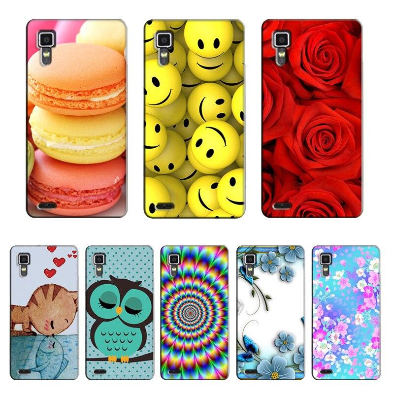 Phone Cases for Lenovo P780 P 780 Cover Cool Rose Flower Lemon Fruit Cat Animal Cartoon Pattern for Lenovo P780 P 780 Case