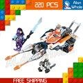220 unids nuevos caballeros 14027 gemela de lance jouster diy modelo kit de construcción de bloques de los niños juguetes nexus compatible con lego