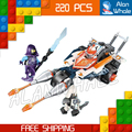 220pcs New Knights 14027 Lance's Twin Jouster DIY Model Building Kit Blocks Children Toys Nexus Compatible with Lego