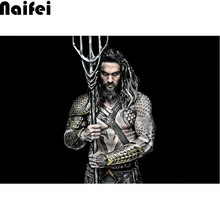 Diamond Embroidery Aquaman,king Of The Sea,DIY Diamond Painting Cross Stitch Kit 5D Diamond Mosaic Strong Man Wall Art(China)