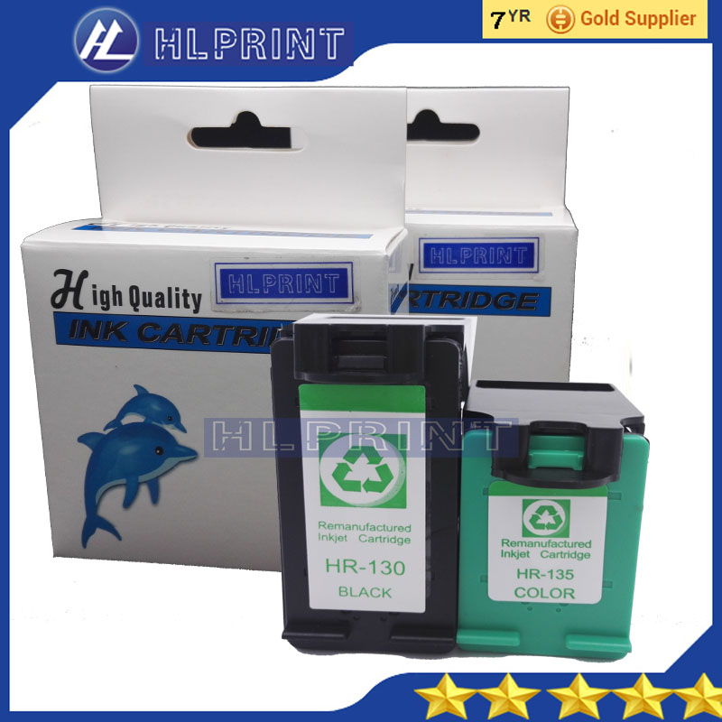 2pcs Compatible ink cartridge HP130 HP135 for hp Officejet 6313 7410 7413 k7103 Deskjet 6943 6983