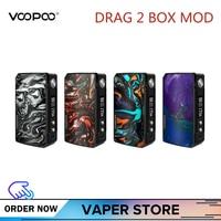 Original VOOPOO DRAG 2 Box Mod 177W DRAG 2 Resin Vape Mod Electronic Cigarette Vaporizer Vs 117W Drag Mini Box Mod Kylin V2 Rta