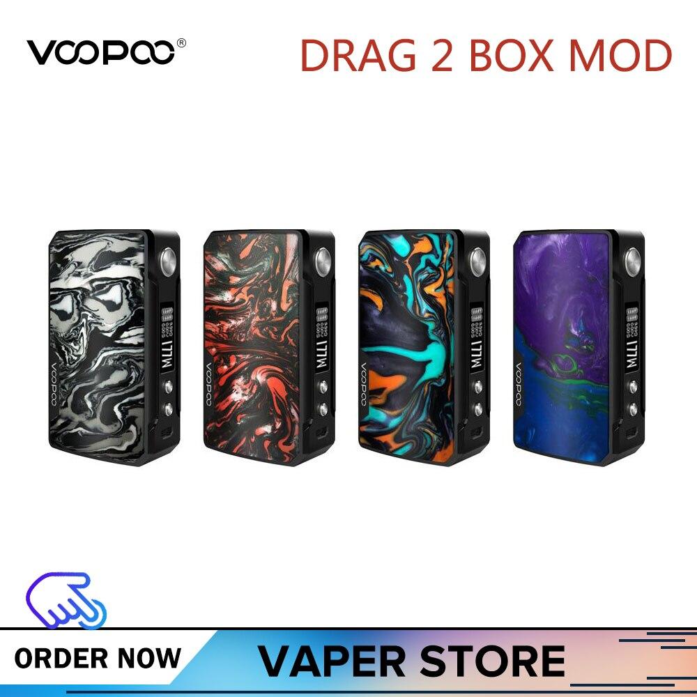 Original VOOPOO glisser 2 boîte Mod 177 W glisser 2 résine Vape Mod vaporisateur de Cigarette électronique Vs 117 W glisser Mini boîte Mod Kylin V2 Rta