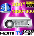 New Android 4.2.2 Wired+WIFI HD LED Multimedia Wifi Projector 5500 Lumens Professional Home cinema LCD Projektor Beamer