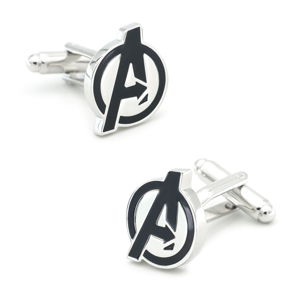 IGame New Arrival Avengers Cuff Links Black Color Film Superheroes Design Quality Brass Material Fashion Cufflinks Free Shipping