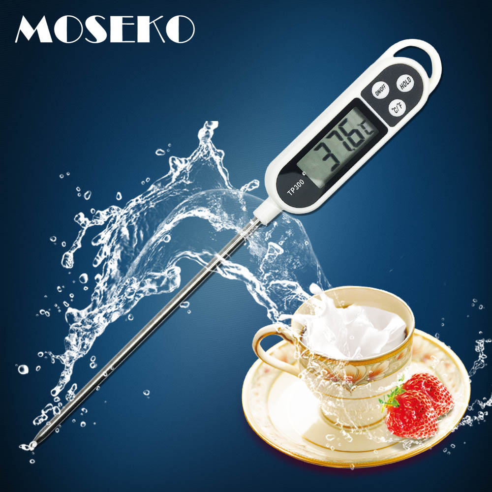 MOSEKO Digital Food Thermometer Kitchen Oven BBQ Cooking Meat Milk ...