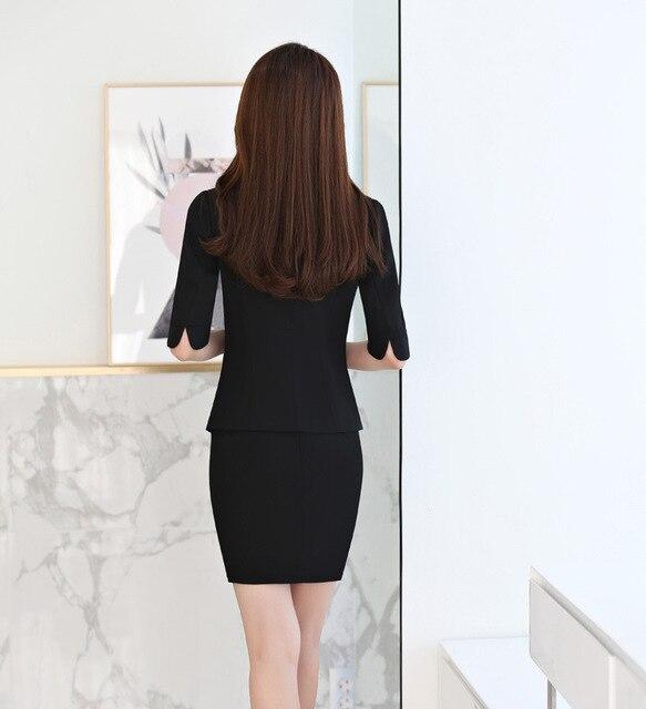 женский офисный костюм izicfly красный блейзер с юбкой элегантный фотография