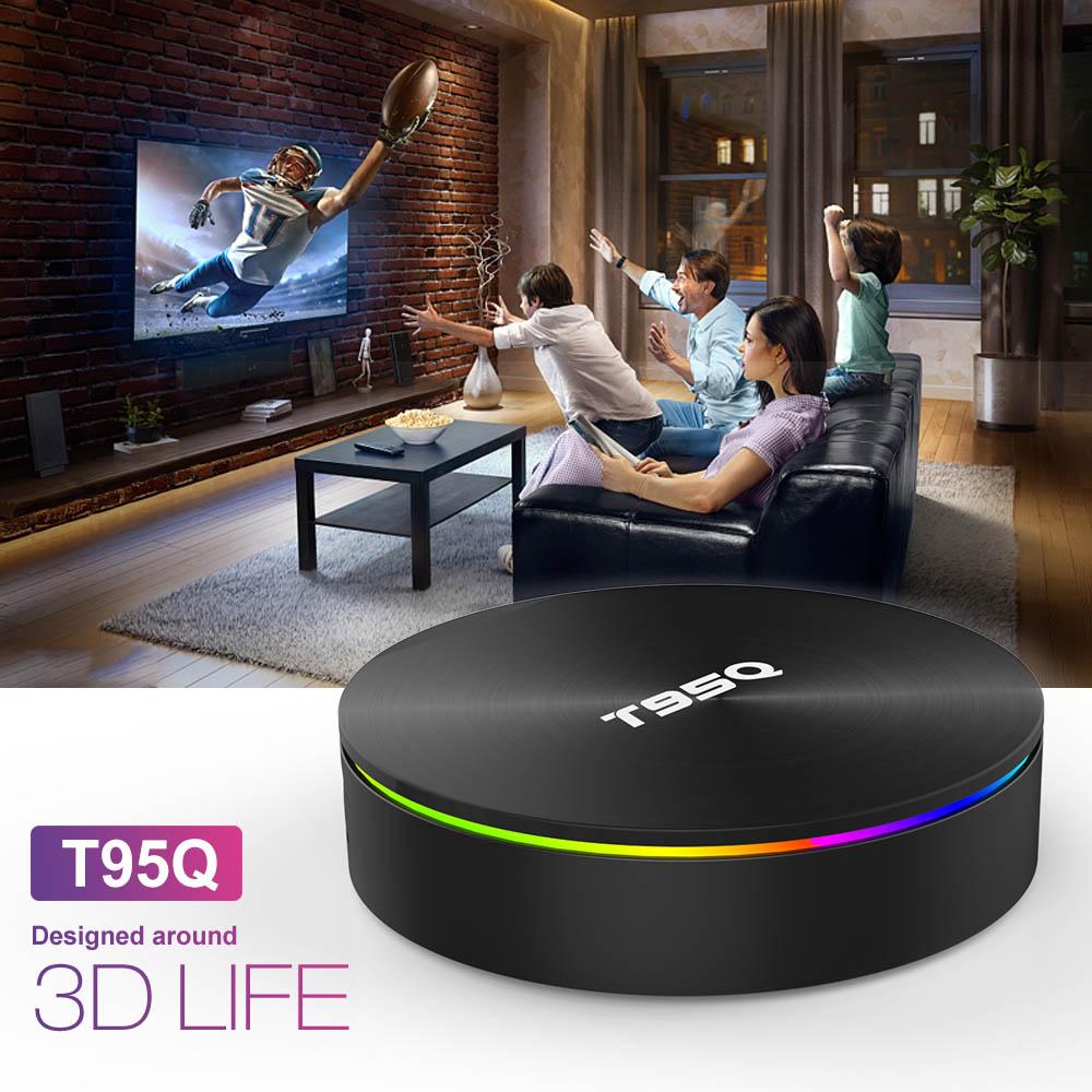 T95Q 4 GB 64 GB Android 9.0 TV BOX 4 K lecteur multimédia DDR3 Amlogic S905X2 Quad Core 2.4G & 5 GHz double Wifi BT4.1 100 M H.265 Smart Box - 4