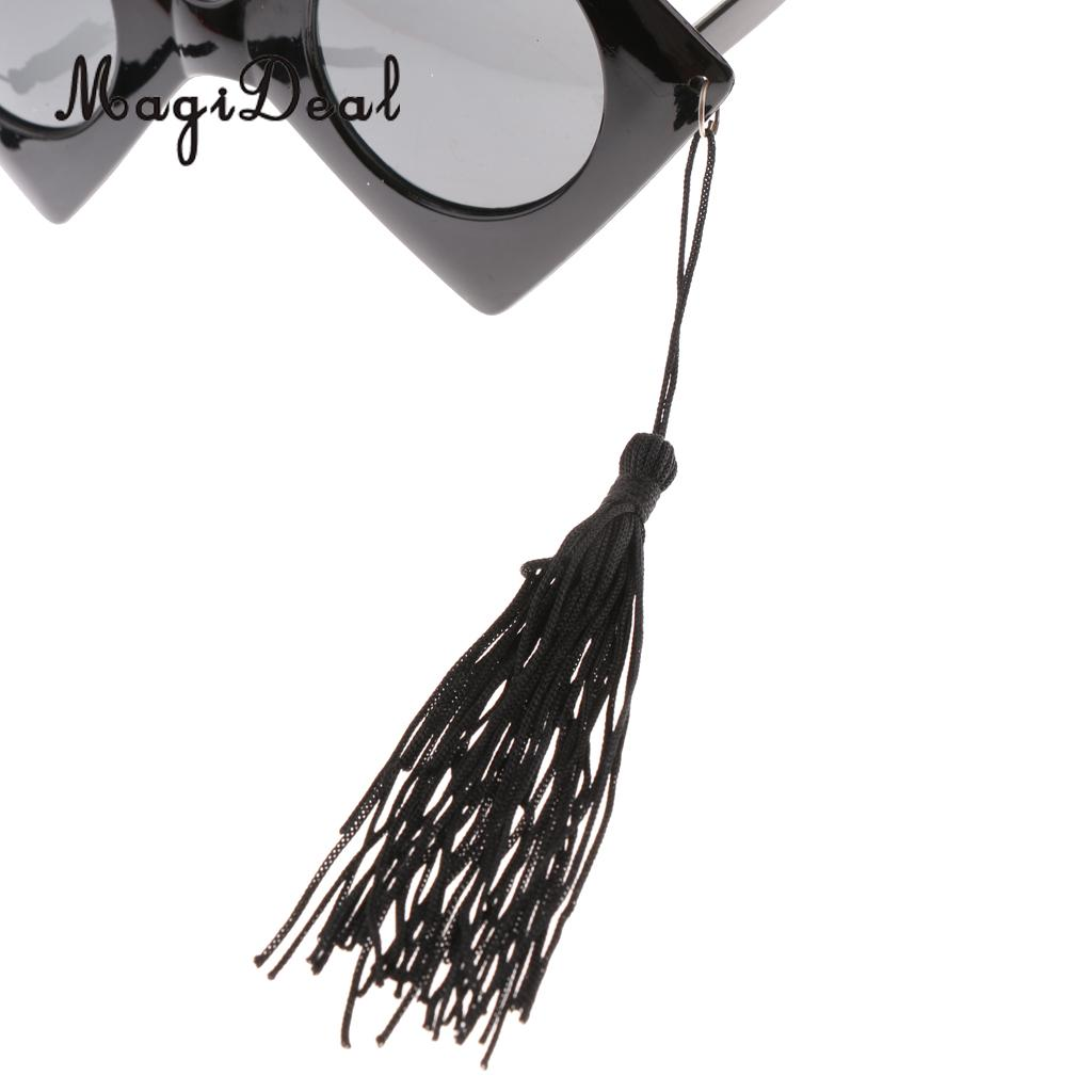 797b26b2802 2pcs Vintage Fun Black Master Doctor Graduation Hat Design Sunglasses  Tassels Party Photo Booth Glasses Fancy Dress Accessories-in Party Favors  from Home ...