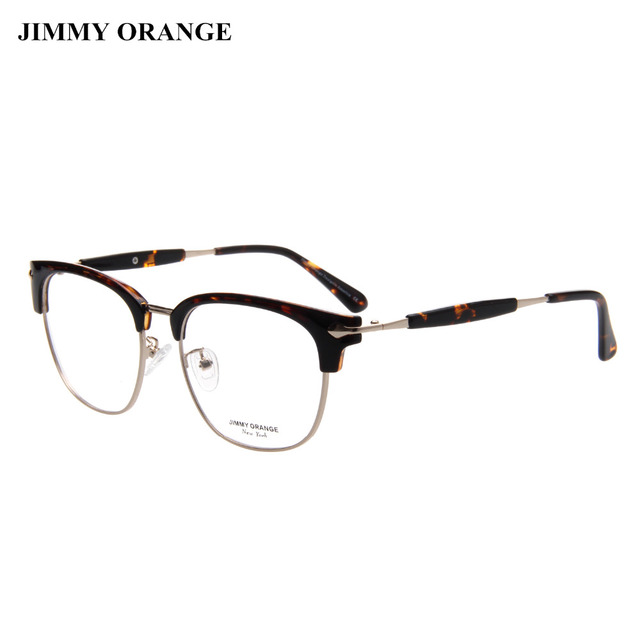 JIMMY ORANGE Round Clubmaster Glasses Frame Vintage Fashion Computer ...