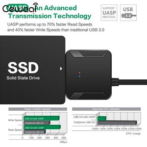Image 3 - Câble de convertisseur USB 3.0 à IDE SATA convertisseur de disque dur Jms578 adaptateur de câble de convertisseur HDD Sata à Usb3.0 cuivre
