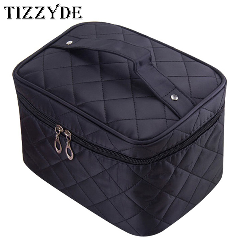 Cosmetic box 2017 female Quilted professional cosmetic bag women's large capacity storage handbag travel toiletry makeup bag ML1
