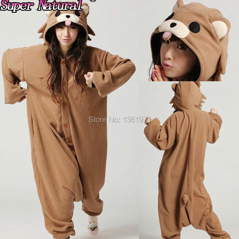 HKSNG Boys Girls Adult Winter Polar Warm Animal Brown Pedo Bear Christmas Pajamas Onesie Party Cosplay Pyjamas