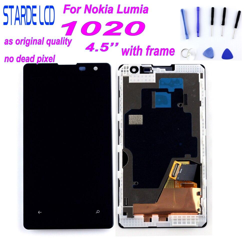 STARDE remplacement LCD pour Nokia Lumia 1020 LCD écran tactile numériseur assemblée avec cadre 4.5''