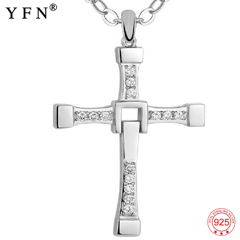 925 Sterling Silver Men Cross Necklaces Fashion Jewelry Cubic Zirconia Fast and Furious Movie Jewelry Pure For Women GNX0002925 Sterling Silver Men Cross Necklaces Fashion Jewelry Cubic Zirconia Fast and Furious Movie Jewelry Pure For Women GNX0002