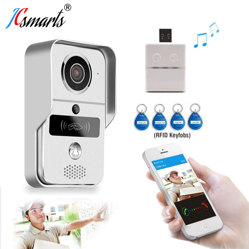High Quality Intercom Wired Wifi Video Doorbell Audio Door Phone Wireless RFID Reader Wall Mounted Auto Record Video In SD Card