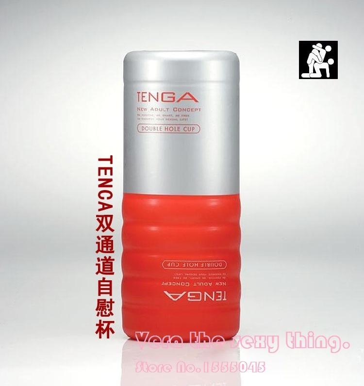 TENGA TOC-104 Double Hole Cup,Simulated Vagina,Masturbators cup,Realistic Pussy Vigina Anus Sex toy for men