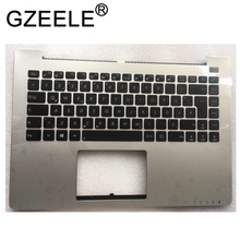GZEELE New palmrst FOR ASUS S400 S400C S400CA notebook C cover with keyboard bezel upper case silver new for asus vivobook s400 s400ca s400c 14 touch screen digitizer glass