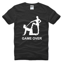Spoof Funny Wedding Gift Game Over Marriage Creative Men S T Shirt T Shirt For Men
