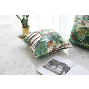 Image 3 - 1PC Home Decoration Cushion Cover Plant Forest Throw Pillowcase Retro Pillowcases Comfortable Pillow Cover Sofa Bedroom