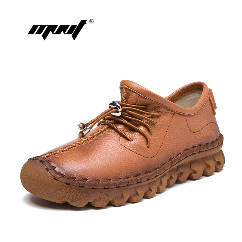 Women Shoes Soft Leather Ladies Flats Shoes Round Toe Casual Shoes Female Footwear zapatos mujer 2017 women leather shoes fashion women s flats casual comfortable loafers soft women shoes female footwear zapatos mujer sft432