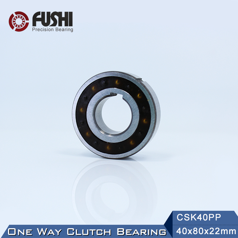 CSK40PP One Way Bearing Clutches 40*80*22mm ( 1 PC) With Keyway CSK6208PP FreeWheel Clutch Bearings CSK208PP mz15 mz17 mz20 mz30 mz35 mz40 mz45 mz50 mz60 mz70 one way clutches sprag bearings overrunning clutch cam clutch reducers clutch