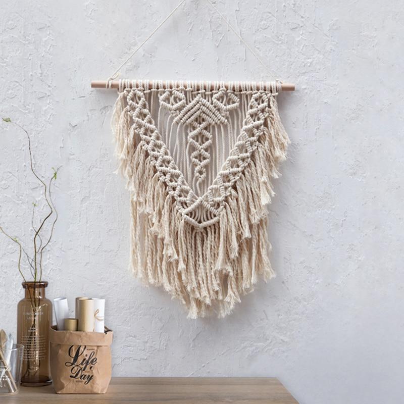 Us 31 04 25 Off Boho Wall Hanging Tapestry Macrame Bohemian Decor Woven Modern Art Living Room In