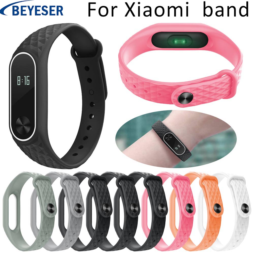 Rubber Strap For Xiaomi Mi Band 2 Sport Silicone Watch Belt For Xiaomi Mi Band2 Bracelet Wrist Bands Replacement Smart Wristband