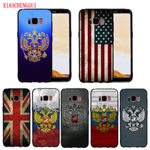 For Samsung Galaxy S8 case Russia USA United Kingdom Flag for S9 S9Plus S6 S6E S7 S7E Soft silicone phone