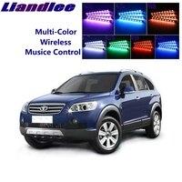 LiandLee Car Glow Interior Floor Decorative Atmosphere Seats Accent Ambient Neon light For Daewoo Winstorm