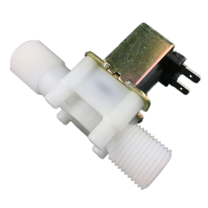 Free shipping 1/2'' Plastic solenoid valve 12V 24V 220V,water valve wholesale is morn cheap
