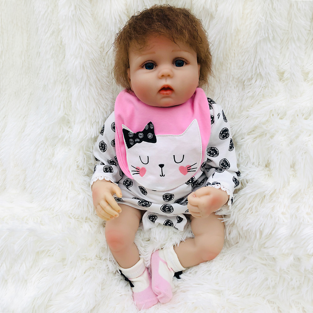 New arrival 20 inch bebe reborn doll 50cm Silicon vinyl reborn baby monecas toy doll for Children Birtday GiftsNew arrival 20 inch bebe reborn doll 50cm Silicon vinyl reborn baby monecas toy doll for Children Birtday Gifts