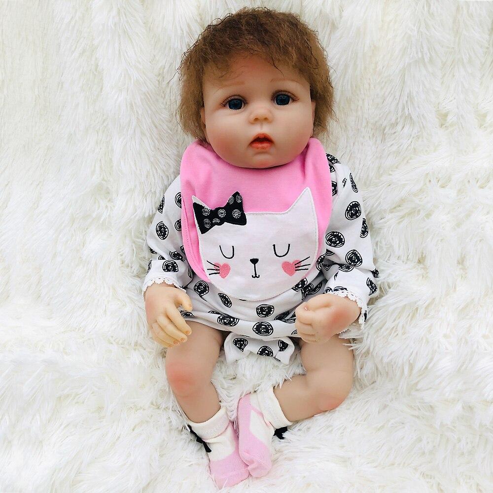 Nouveauté 20 pouces bebe reborn poupée 50cm silicone vinyle reborn bébé monecas jouet poupée pour enfants cadeaux de Birtday