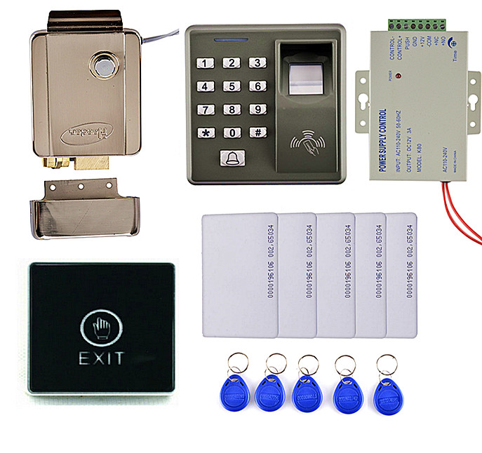 Diy Full Complete Fingerprint RFID Card Door Access Control Kit +Touch Button Switch For Office / Home Improvement animal dolls complete diy kit assorted