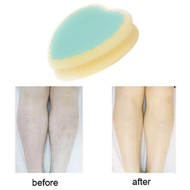 1PCS New Design Magic Painless Hair Removal Depilation Sponge Pad Remove Leg Arm Hair Remover Effective Skin Care Tools Cosmetic