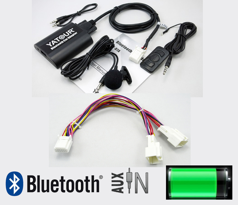 Yatour BTA car Bluetooth adapter for Lexus Toyota Scion 2003-2013 With Y cable Smart Phone Hands Free A2DP Music+Remote Control yatour bta bluetooth car kit hands free phone call a2dp music streaming adapter fits lexus ls430 2001 2006 p1750 p6814 radio