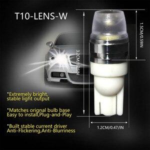 Image 2 - 2 x T10 LEDเว้าภายในเลนส์หลอดไฟCOB WEDGEด้านข้าง 6000KหลอดไฟLEDสำหรับรถอ่านไฟ