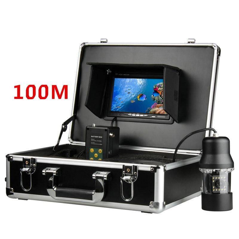 7 LCD Underwater Fishfinder 360 Degree Rotating Camera Fish Finder Fish Detector Monitor 100M gamwater 7 tft monitor 50m cable 360 degree rotate underwater camera underwater fishing camera color fish monitor fish finder