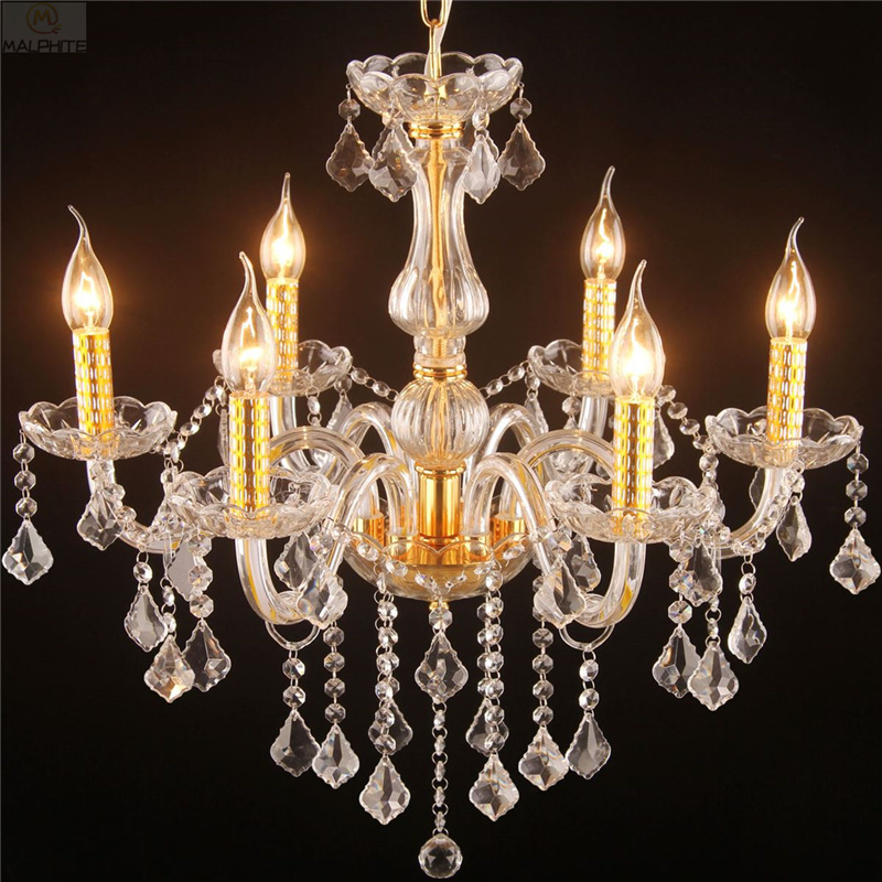 Nordic Crystal Luster Gloss Pendant Lights Living Room Bedroom Golden Pendant Lamp Restaurant Hotel Candle Lighting LuminaireNordic Crystal Luster Gloss Pendant Lights Living Room Bedroom Golden Pendant Lamp Restaurant Hotel Candle Lighting Luminaire