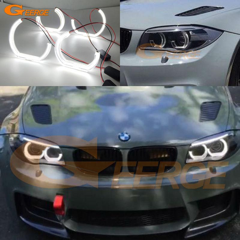 Для BMW 1 серии E82 e88 серия Е87 Е81 2008 2009 2010 2011 ксенон отлично Ультра-яркий Стиль ДТМ М4 светодиодные ангельские глазки набор