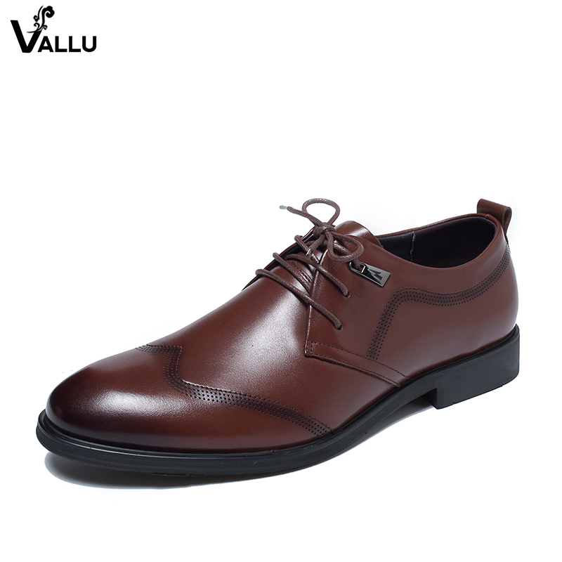 European Style Business Shoes For Men Fashion Luxury Dress Shoes Man Genuine Leather Low Heel Lace-Up Male Formal Derby Shoes 2016 new fashion designer brand cowhide formal flats genuine leather dress derby style lace up round toe shoes for men mgs707 page 1