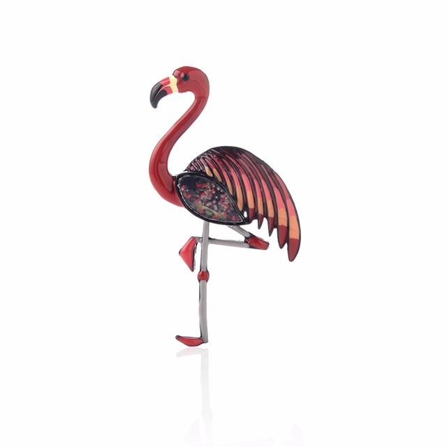 Flamingo Enamel Brooches