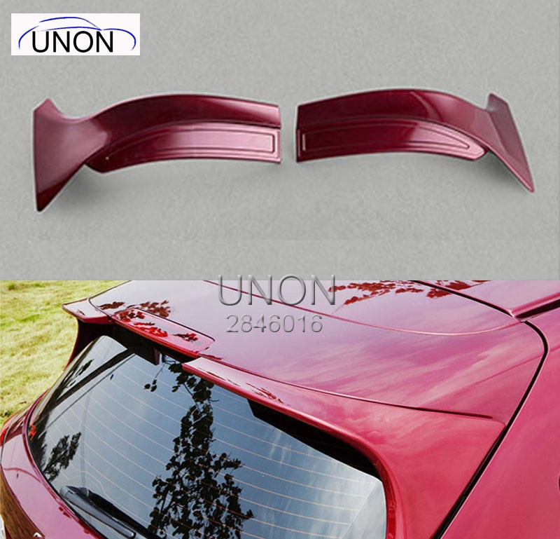 For Honda HRV Spoiler High Quality ABS Material Car Rear Wing Primer Color Rear Spoiler For Honda HRV Vezel Spoiler 2015-2017 abs chrome glass switch sequins for 2015 2016 hrv vezel car styling accessories